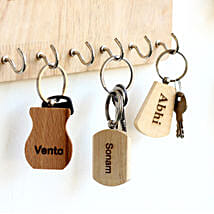 Personalised Engraved Car Key Chains Set of 3: Personalised Key Chains