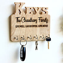 Personalised Engraved Family Name Key Holder: