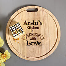 Personalised Engraved Quality Chopping Board: Diwali Gifts for Her