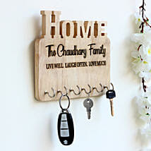 Personalised Engraved Wooden Key Holder: Send Personalised Gifts to Mysore