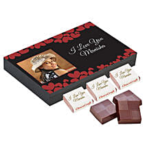 Personalised Love You Decorated Chocolate Box: Personalised Chocolates for Anniversary