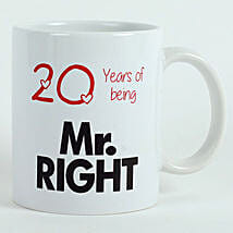 Personalised Mr Right Mug: Send Valentine Gifts to Faridabad