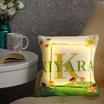 Personalised Name LED Cushion: Customized Gifts for Her