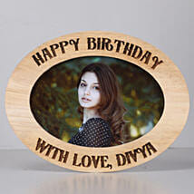 Personalised Oval Photo Frame-Birthday: Personalised Photo Frames