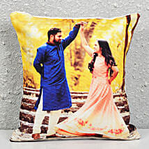 Personalised Photograph Cushion: Cakes to Mahabalipuram