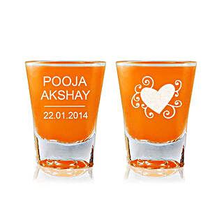 Personalised Set Of 2 Shot Glasses 2295: Personalised Shot Glasses