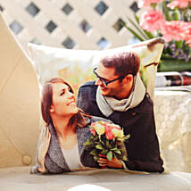 Personalised Romantic Cushion: Send Pooja Thali to Mumbai