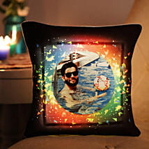 Personalised Vibrant LED Cushion: Birthday Personalised Gifts