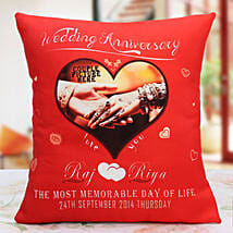 Personalized Anniversary Cushion: Personalised Gifts Varanasi