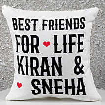 Personalized Best Friends Cushion: Friendship Day Gifts to Gurgaon