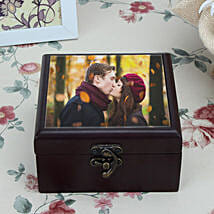 Personalized Brown Wooden Box: Send Personalised Gifts to Indore