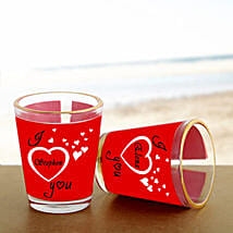 Personalized Couple Shot Glass: Send Gifts to Balaghat