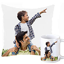 Personalized Cushion and Mug For Dad: Send Personalised Gifts for Diwali