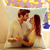 Personalized Cushion Gift: Send Gold Rakhi