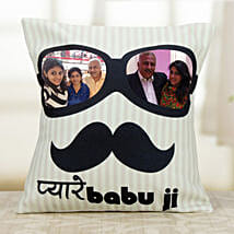 Personalized Exotic Cushion: Fathers Day Cushion