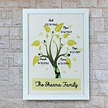 Personalized Family Tree Frame: Send Personalised Gifts for Diwali