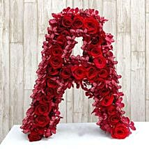Personalized Floral Alphabet: Send Personalised Gifts to Delhi