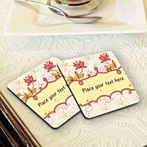 Personalized Floral Coasters: Personalized Diwali Gifts