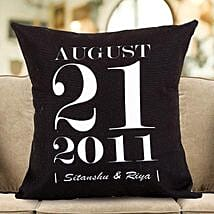 Personalized Important Date Cushion: Personalised Gifts