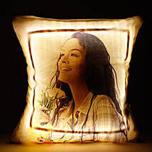 Personalized LED Cushion Yellow: Send Anniversary Gifts for Her