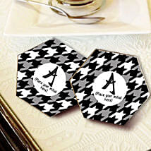 Personalized Letter Coasters: Send Gifts to Mansa