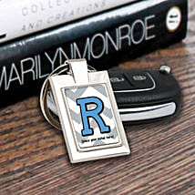 Personalized Letter Key Chain: Personalized Diwali Gifts