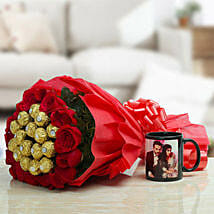 Personalized Mug With Chocolates: Valentine Personalised Gifts for Him