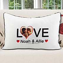 Personalized Pillow Cover White: Valentine Personalised Gifts for Girlfriend