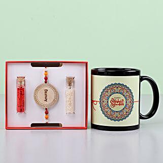 Personalized Rakhi And Mug Combo: Send Rakhi with Mugs