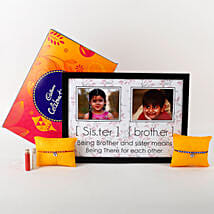 Personalized Rakhi Combo: Rakhi With Photo Frames