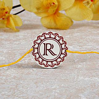 Personalized Rakhi With Initial: Personalized Rakhi