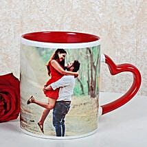 Personalized Red Ceramic Mug: Coffee Mugs