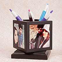 Personalized Rotating Pen Holder: Birthday Personalised Gifts