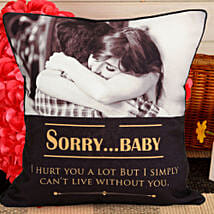 Personalized Sorry Cushion: Send Personalised Gifts to Aizawl