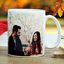 Personalized Special Couple Mug: Gold Rakhi