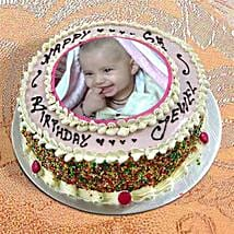 Photo Cake Vanilla Sponge: Birthday Cakes Nagpur