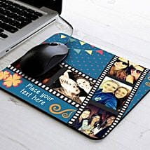 Picture Strip Personalized Mouse Pad: Send Diwali Gifts to Mohali