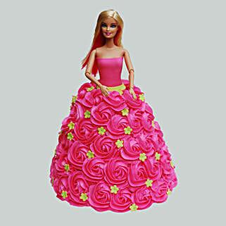 Pink Barbie Cake: