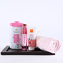Pink Essentials For Girl Hamper: Send Cosmetics & Spa Hampers for Anniversary