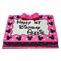 Pink Mickey Mouse Delight Cake: 1st Birthday Gifts