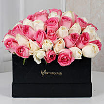 Pink N White Floral Delight: Women's Day Gifts for Wife