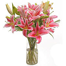 Pink Oriental: Birthday Flowers for Boyfriend