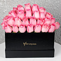 Pink Roses Box of Happiness: Womens Day Gifts for Girlfriend