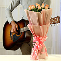Pink Roses & Hearty Notes Combo: Birthday All Gifts