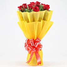 Posy Of Bright Red Roses: Red Flowers