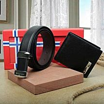 Premium Belt And Wallet Combo: Mens Accessories