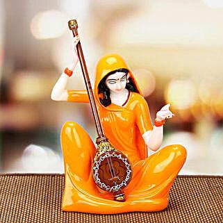 Premium Marble Mirabai Idol: Spiritual Gifts Delivery to Delhi