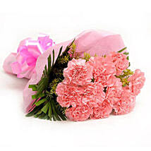 Pretty Pink Carnations Bouquet: Flowers to Aligarh