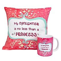 Princess Daughter Cushion and Mug: Gifts for Daughters Day