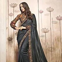 Printed Grey Casual Wear Saree: Apparel Gifts